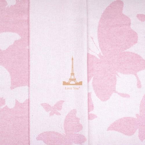 Плед хлопковый Бабочка розовый Love You