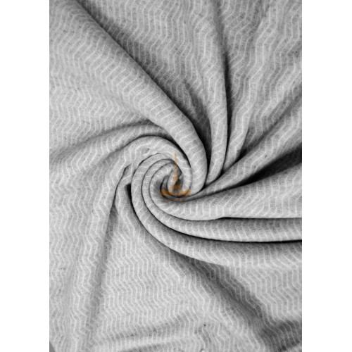 Plaid woolen Wave white-light gray Love You