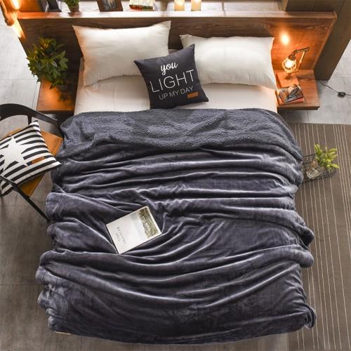 Plaid bedspread anthracite HomeBrand