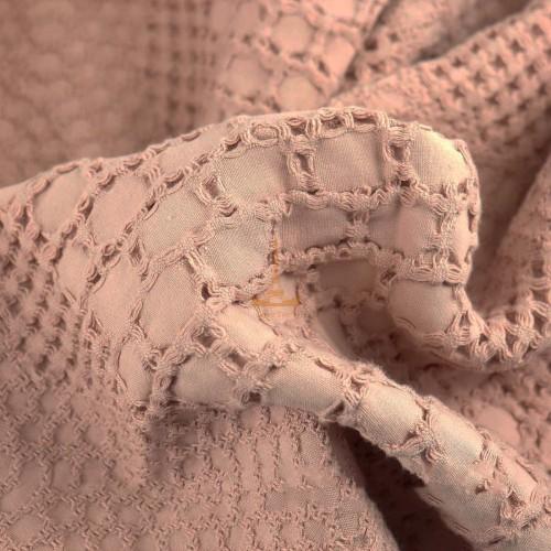 Вафельное простынь-покрывало Пике бежевое HomeBrand
