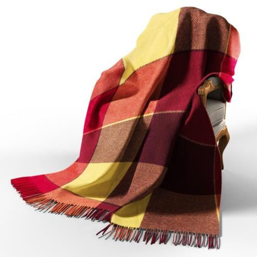 Plaid woolen Elf yellow-red-burgundy Love You Wool