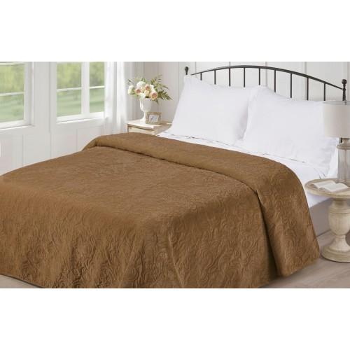 Bedspread plain V21 gold Love You