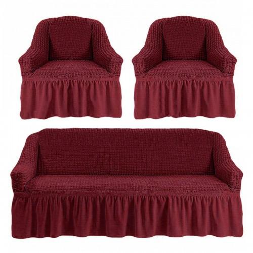 Чехлы: Диван + 2 кресла Пурпур 37 Love You
