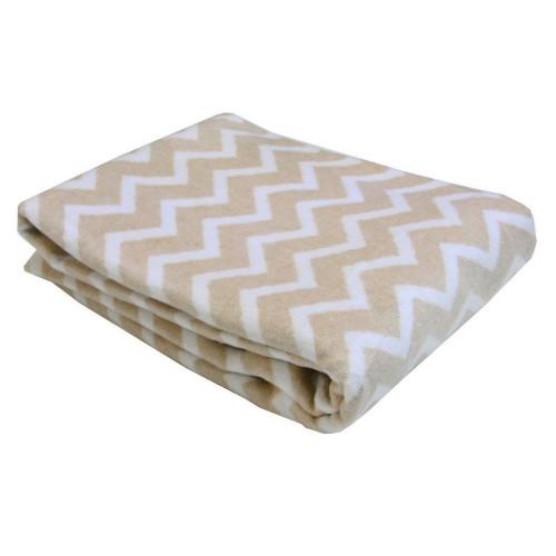 Плед-одеяло детское Зиг-заг Love You 100x140 см Бежевый