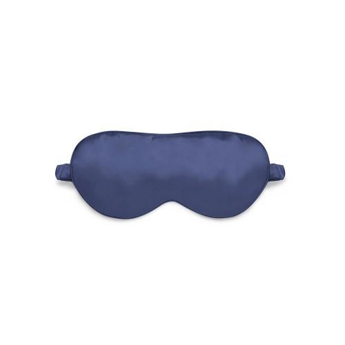 Sleep mask Love You Blue 100% Silk Non-adjustable strap