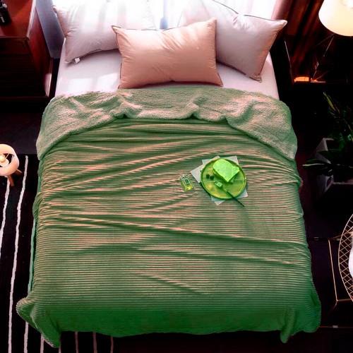 Plaid blanket stripe olive HomeBrand