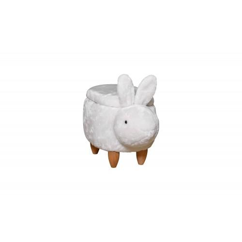 Пуфик детский с нишей Кролик белый Love You