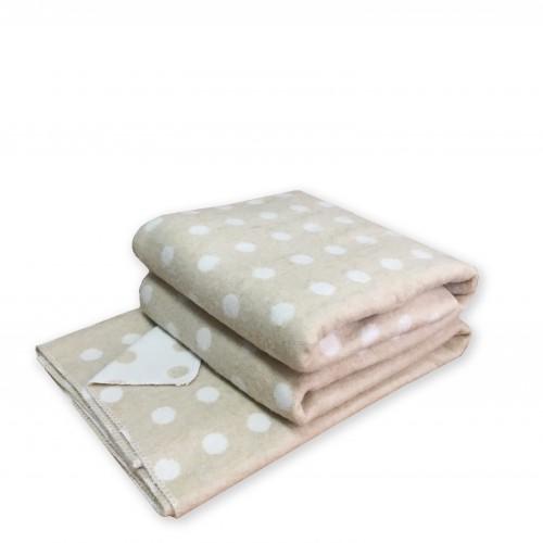 Плед-одеяло детское Love You 100x140 см Песок Горох