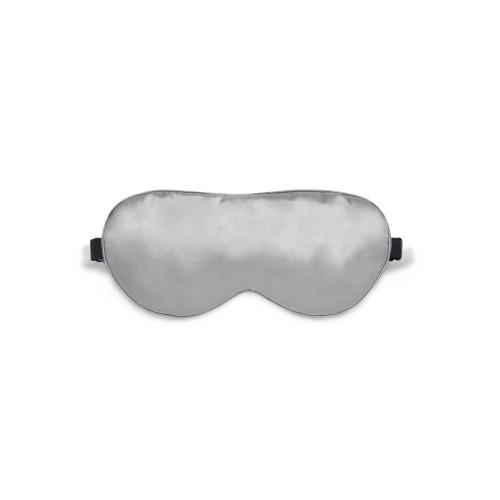 Sleep mask Love You Gray 100% Silk Adjustable strap