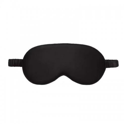 Sleep mask Love You Black 100% Silk Non-adjustable strap