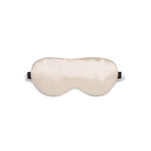 Sleep mask Love You Beige 100% Silk Adjustable strap