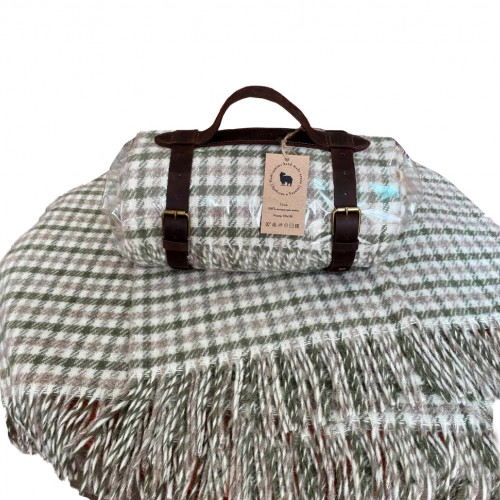 """Woolen travel plaid 130 * 180 """"Houndstooth"""" Love You"""