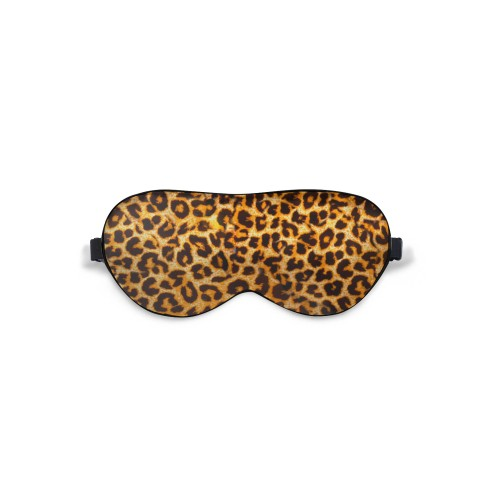 Sleep mask Love You Leopard 100% Silk Adjustable strap