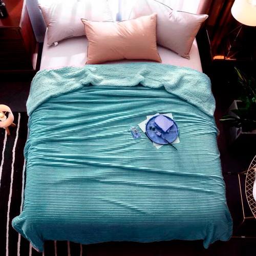Plaid bedspread strip sea wave HomeBrand