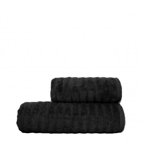 Полотенце Dalga черное HomeBrand