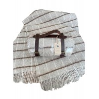 Woolen travel plaid 130 * 180 Brown cage Love You