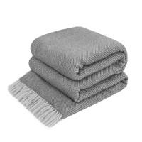 Woolen plaid ZIG-ZAG gray Love You